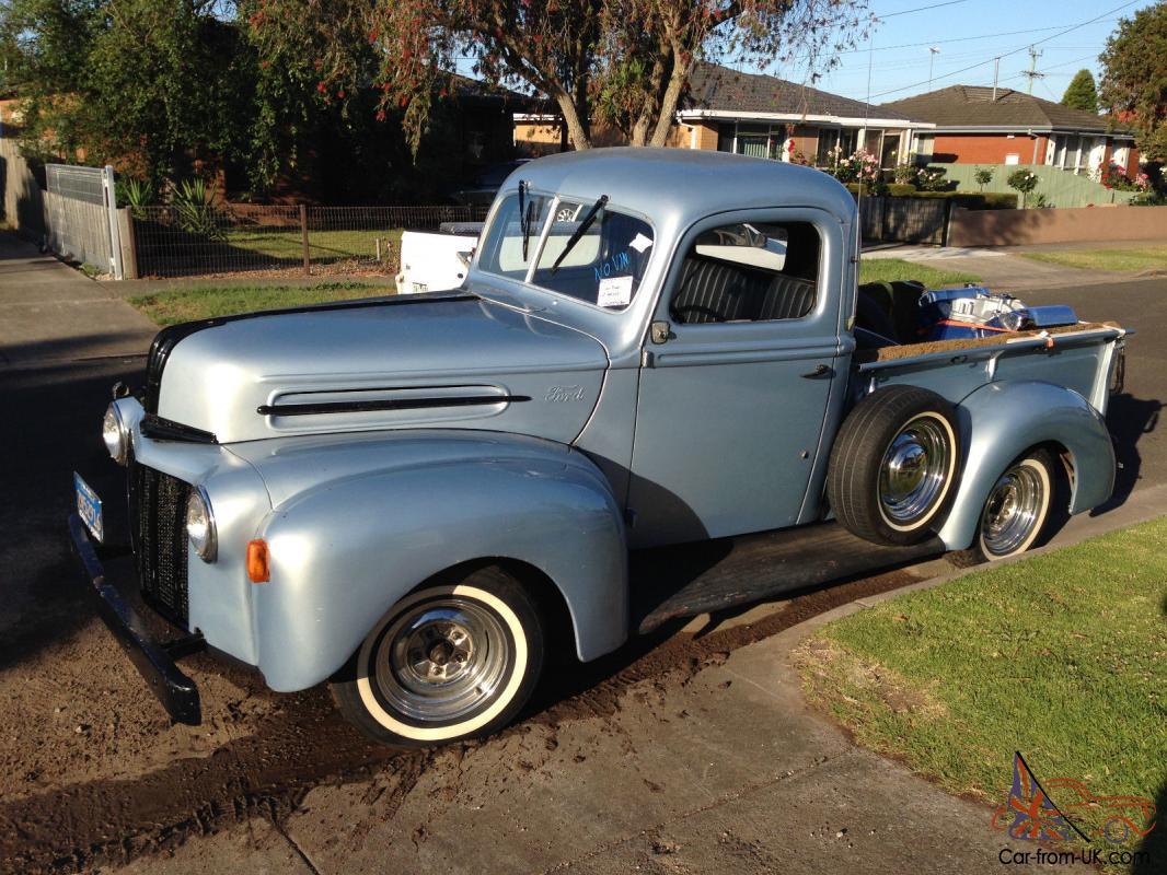 hight resolution of 1946 ford jail bar pick up v8 stepside f100 f150 f250 truck in bannockburn vic