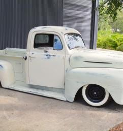 1949 ford f1 pickup patina rat rod project bagged not chevrolet camaro f100 in qld photo [ 1199 x 800 Pixel ]