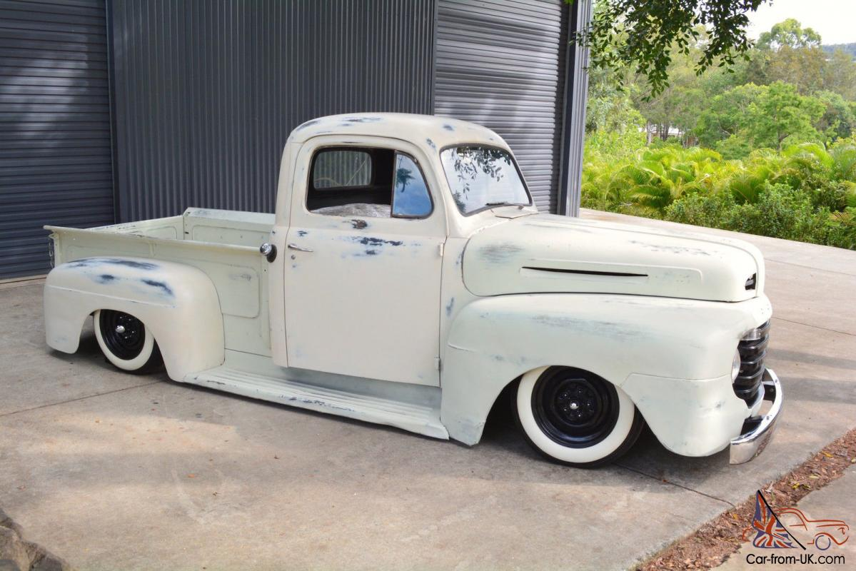 hight resolution of 1949 ford f1 pickup patina rat rod project bagged not chevrolet camaro f100 in qld photo