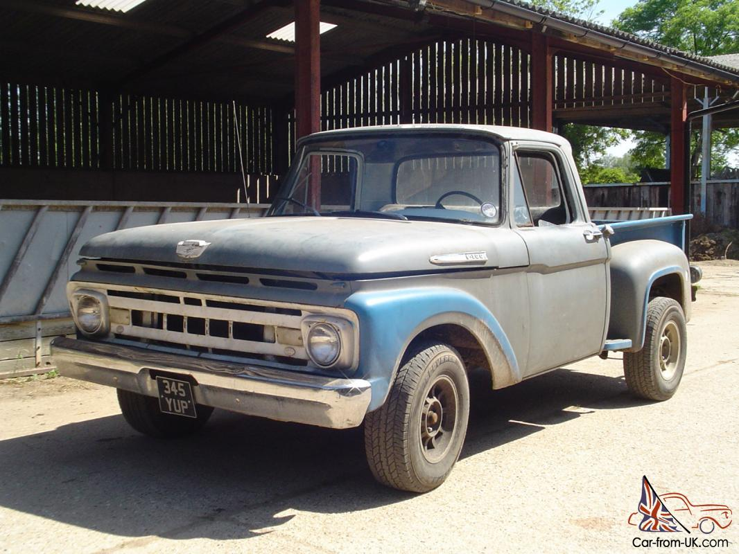 hight resolution of 1961 ford f100 swb stepside pick up truck tax photo