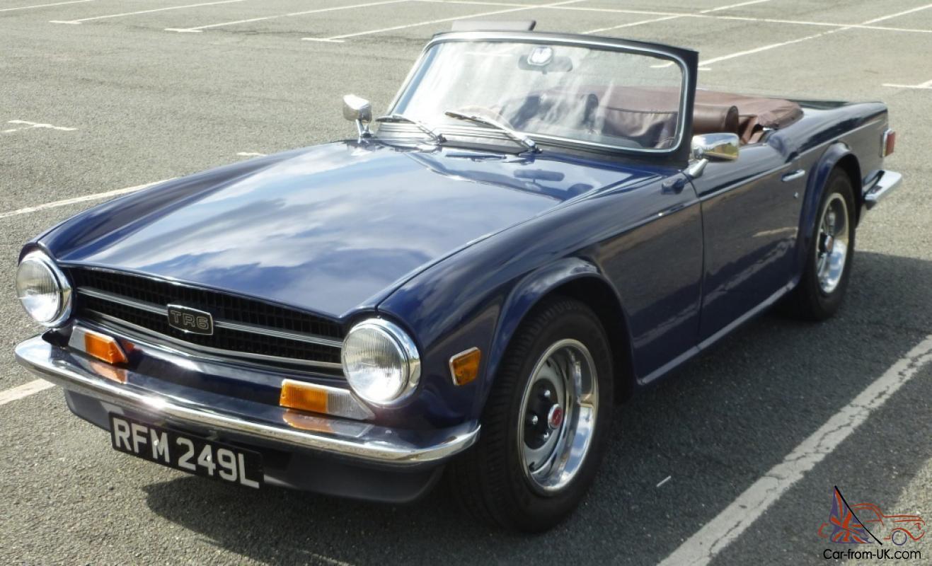 hight resolution of 1973 triumph tr6 blue photo
