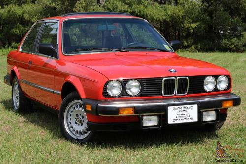 small resolution of 1984 bmw 325e red only 29k miles pristine 2 door manual trans photo