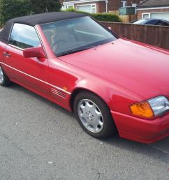 1993 mercedes 300sl auto red excellent condition photo [ 1066 x 800 Pixel ]