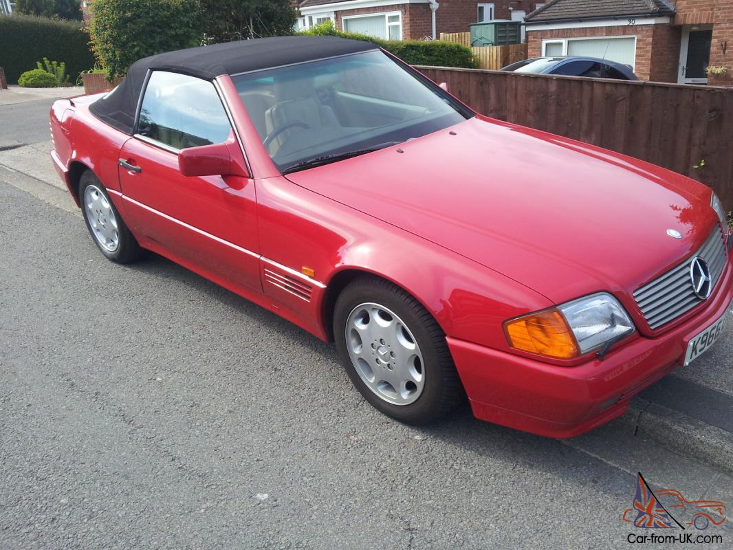 hight resolution of 1993 mercedes 300sl auto red excellent condition photo