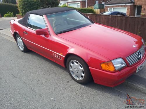 small resolution of 1993 mercedes 300sl auto red excellent condition photo