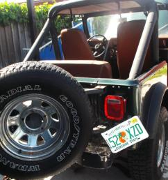 1982 jeep cj7 base sport utility 2 door 4 2l green with medal tub florida [ 1198 x 800 Pixel ]