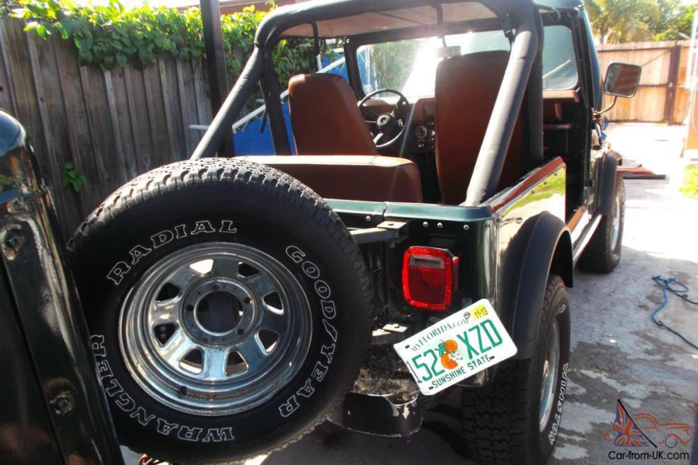 medium resolution of 1982 jeep cj7 base sport utility 2 door 4 2l green with medal tub florida