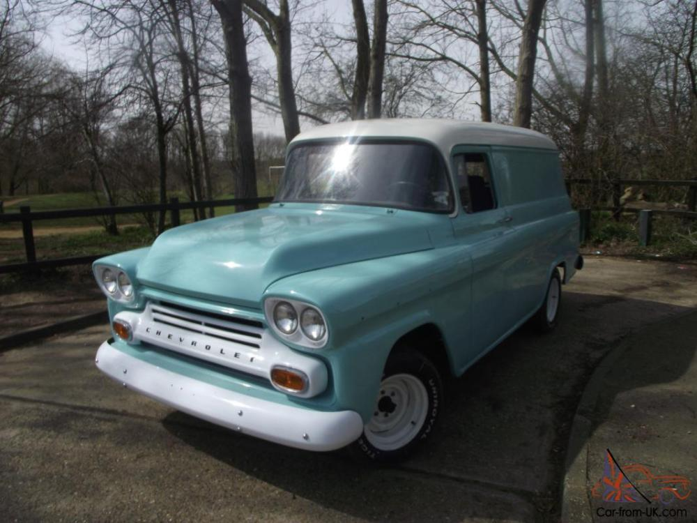 medium resolution of 1959 chevy apache panel van