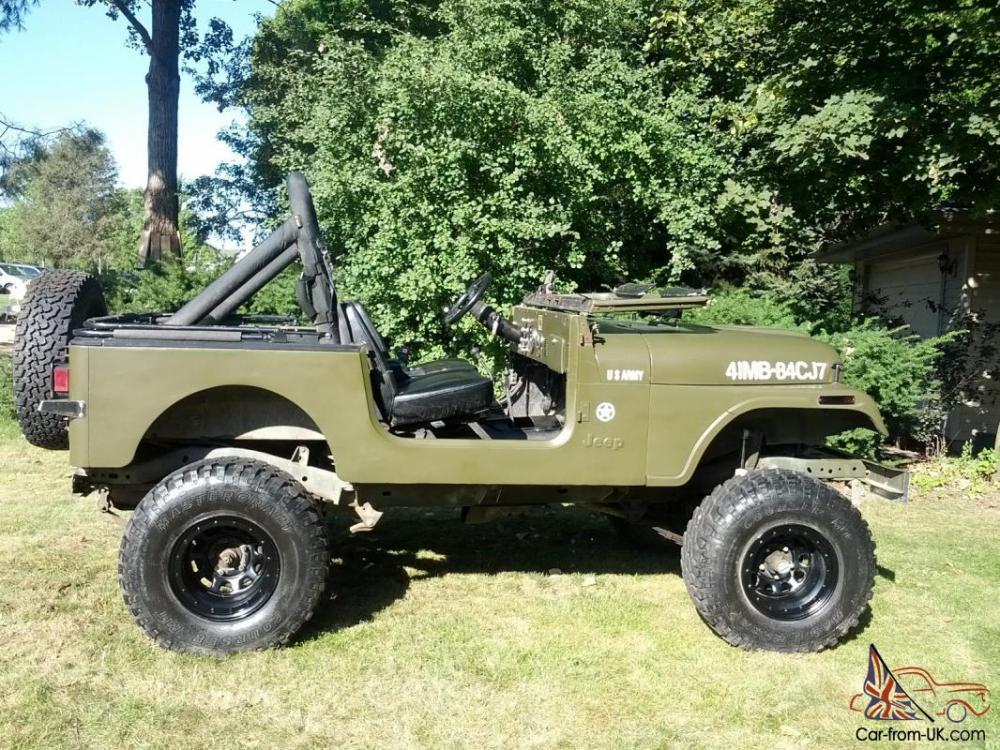 medium resolution of jeep cj7 army wrangler 4x4 cj photo