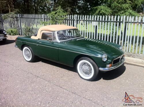 small resolution of mgb roadster restored wire wheels british racing green rh car from uk com 1975 mgb wiring