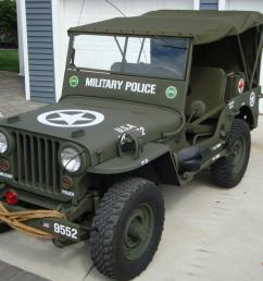 willys 1946 cj2a u s army ww2 type military police style jeep w 50 caliber [ 1066 x 800 Pixel ]