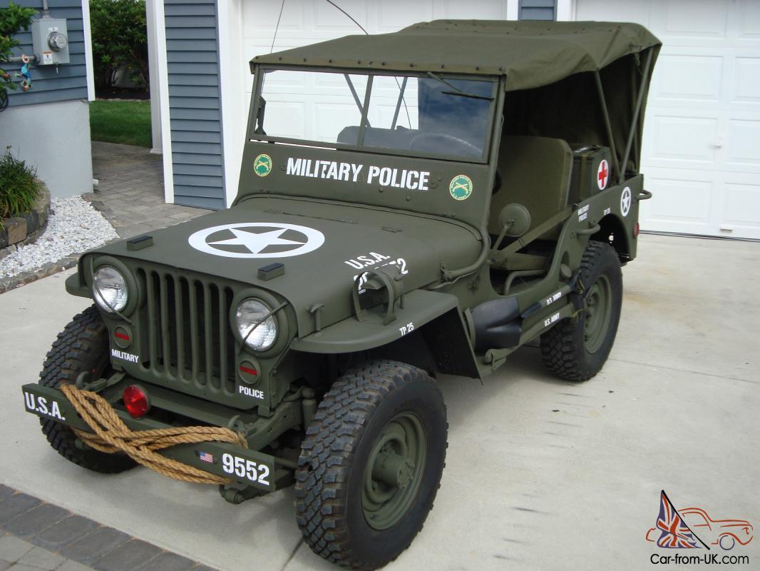 hight resolution of willys 1946 cj2a u s army ww2 type military police style jeep w 50 caliber