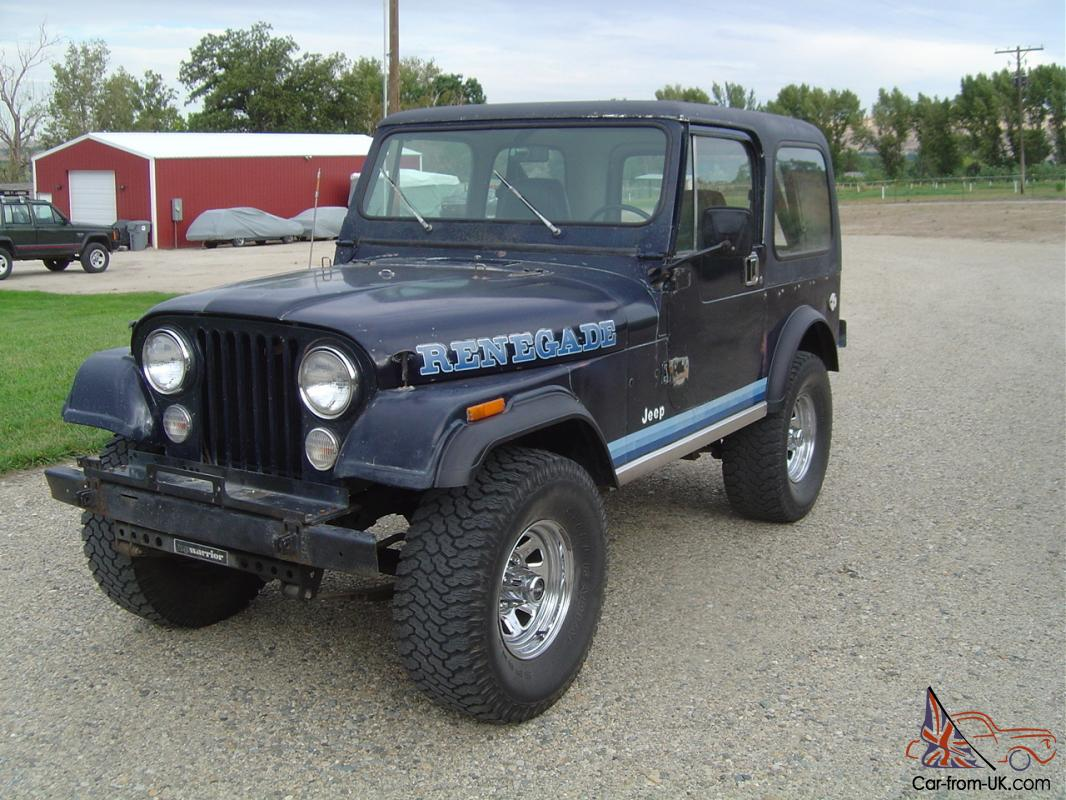 1981 Jeep CJ7 Renegade6cylT18 4spdDana 300 Tcase 3 Tops Rust Free Mopar