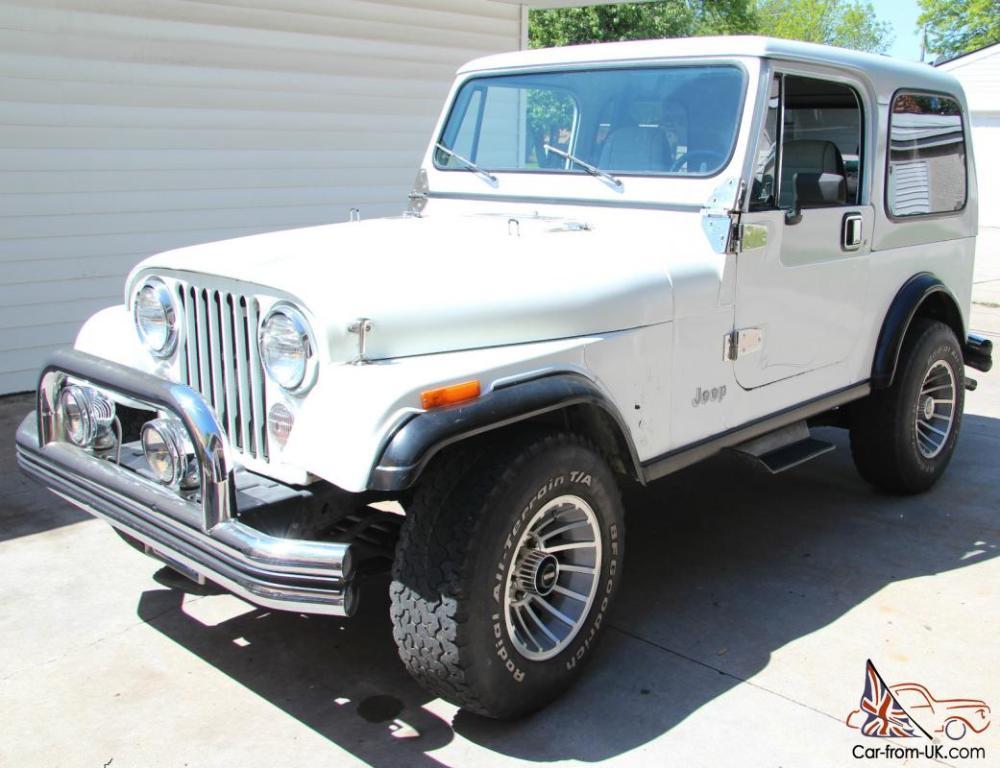 medium resolution of 1985 jeep cj7 white