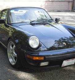 1987 porsche 911 turbo 930 carrera coupe 2 door 3 3l black w tan [ 1200 x 800 Pixel ]