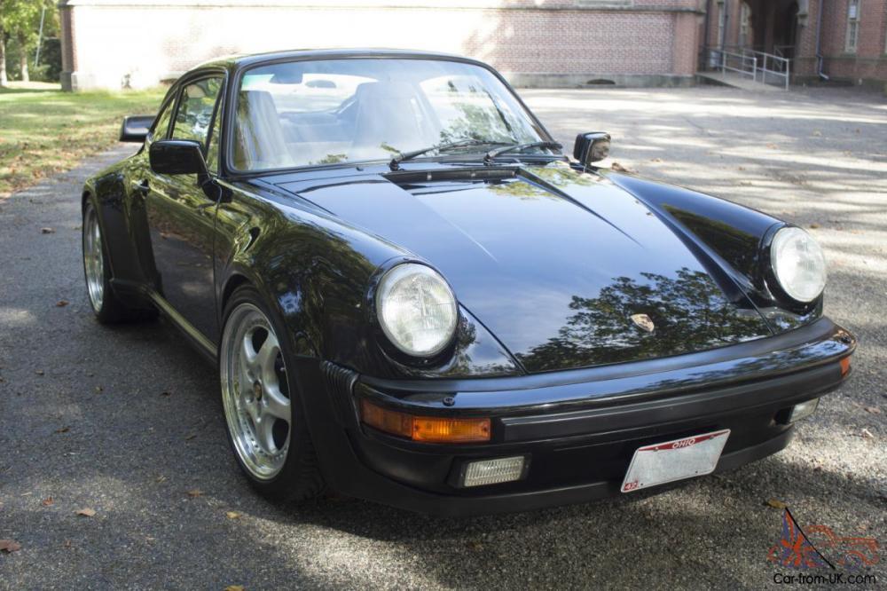 medium resolution of 1987 porsche 911 turbo 930 carrera coupe 2 door 3 3l black w tan