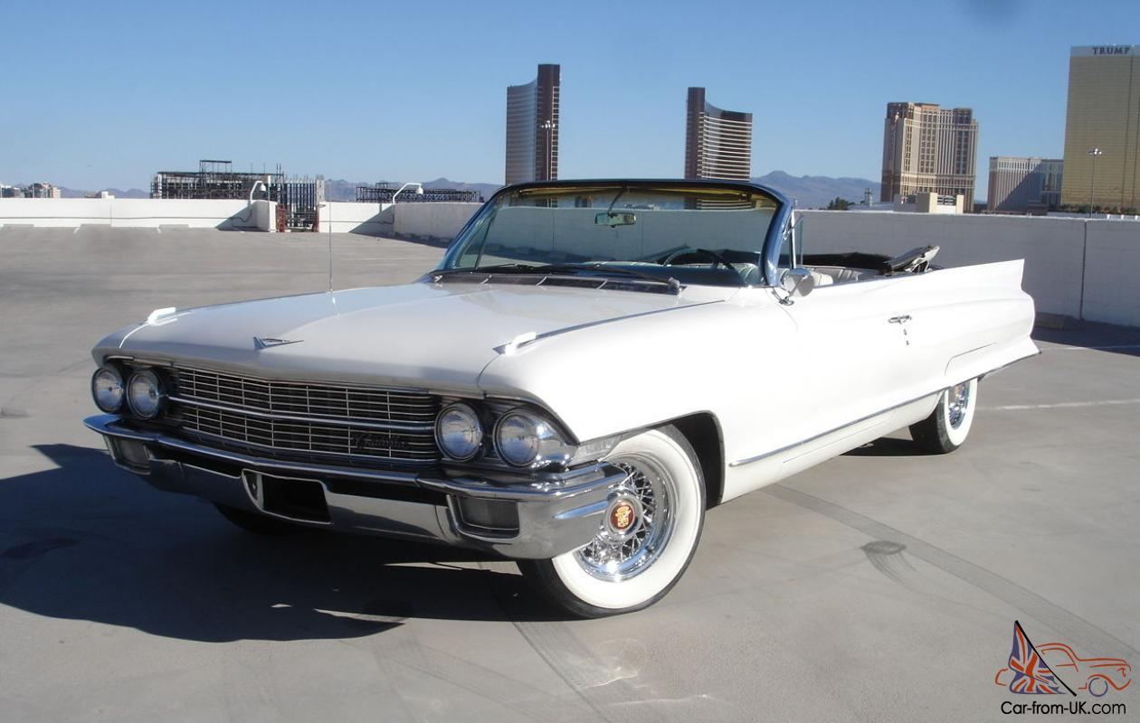 hight resolution of 1962 cadillac deville 62 series convertible v 8 loaded nevada car triple white