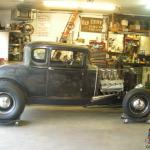 1930 Ford Model A Coupe Hot Rod Scta Vintage Chopped