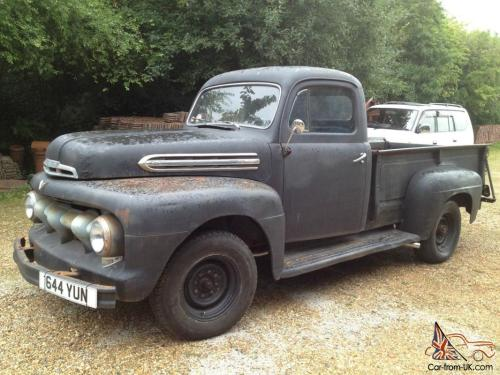 small resolution of 1951 ford f3 pick up truck hot rod rat v8 flathead