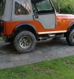 cj jeep fitted with chevy part exchange considered jpg 1066x800 jeep cj5 side pipes [ 1066 x 800 Pixel ]