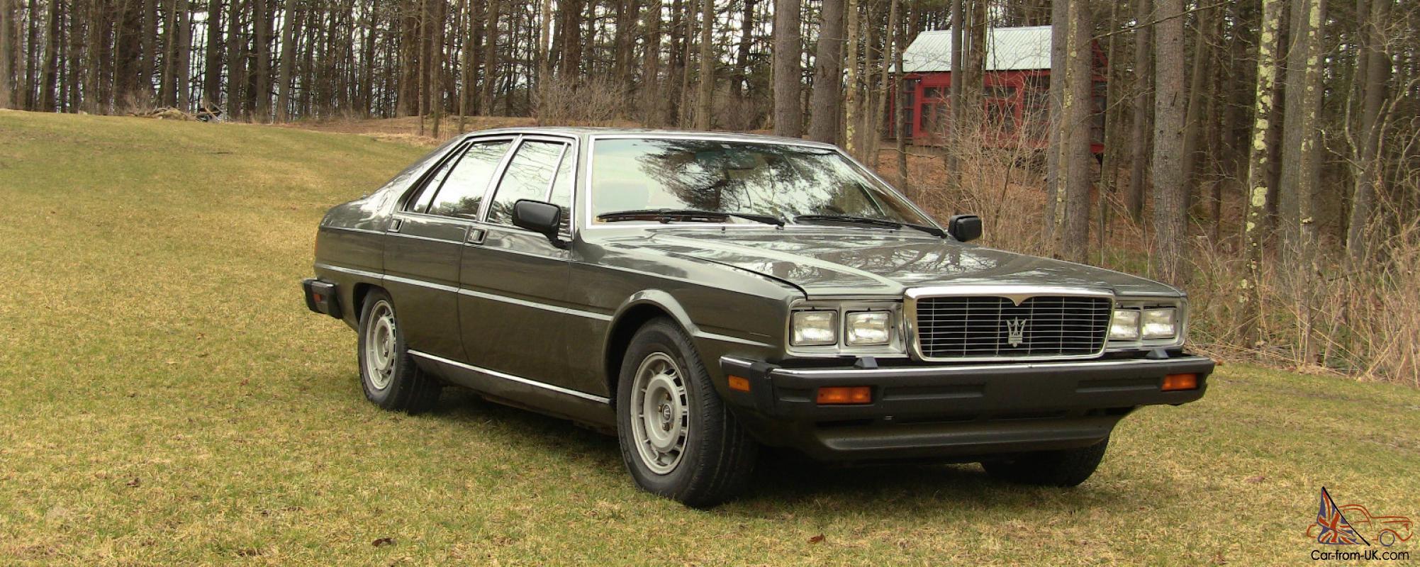 1985 Maserati Quattroporte  Upscale  Ultra  Excellent