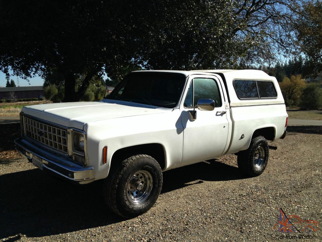 hight resolution of 1978 chevy short bed 4x4 solid ca truck photo