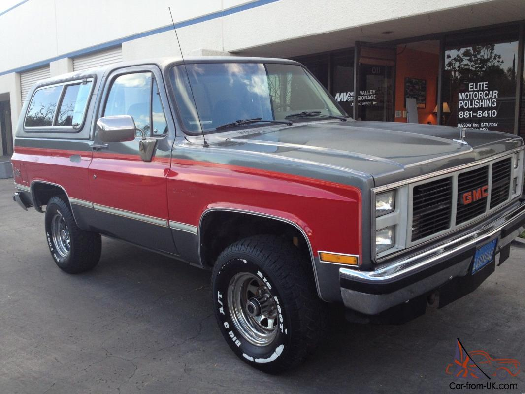 hight resolution of 1987 gmc jimmy 4 x 4 california car photo