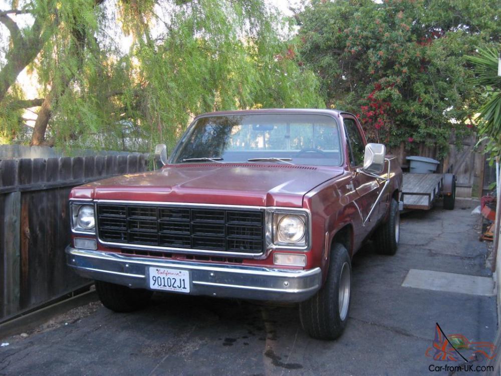 medium resolution of 1977 chevrolet c20 pickup truck 3 4 ton 454 91 100 miles th400 chevy gmc