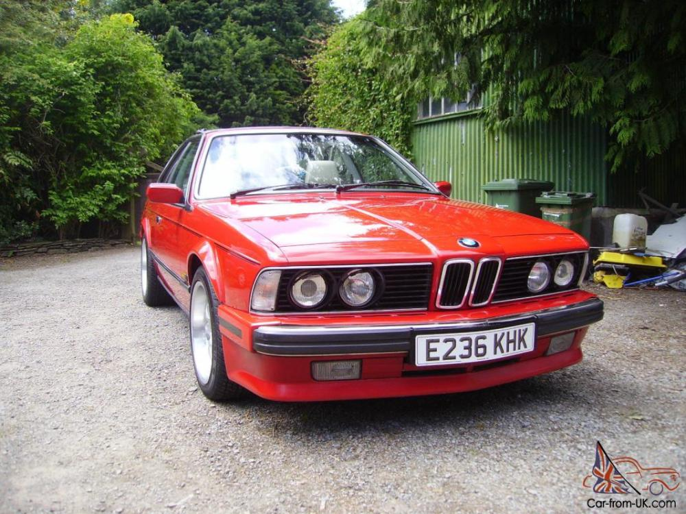medium resolution of 1988 bmw 635 csi auto red