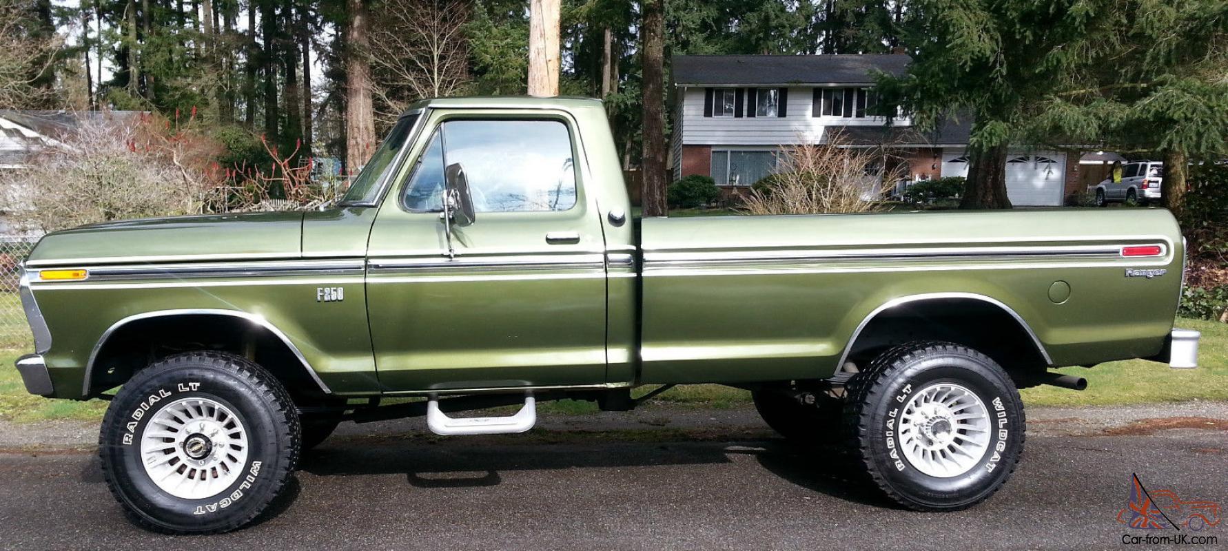 hight resolution of 1975 ford highboy f 250 ranger 4x4 390 auto a c locking hubs buy