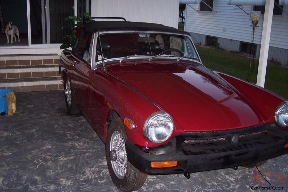 medium resolution of 1976 mg midget convertible new paint runs looks great no reserve located