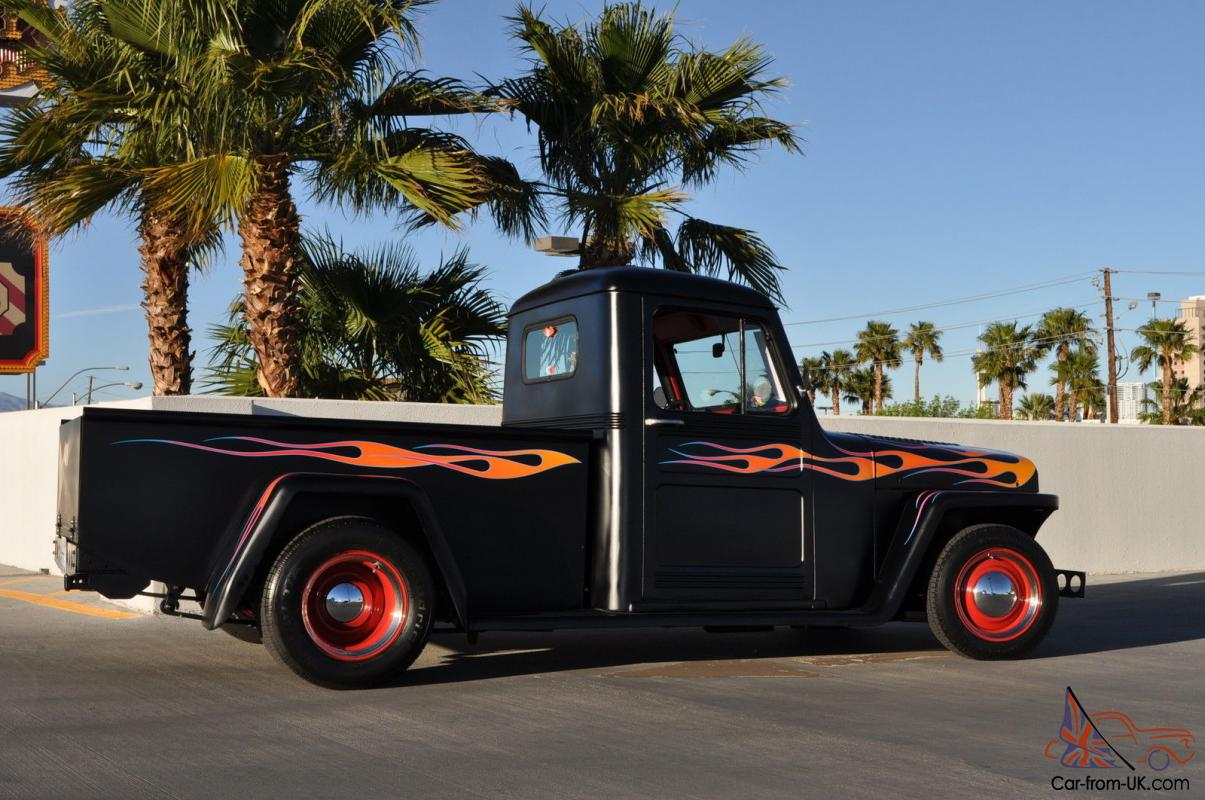 hight resolution of 1948 full custom willys overland pickup truck 350 mustang ii front end