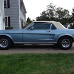 1967 Ford Mustang Convertible Brittany Blue