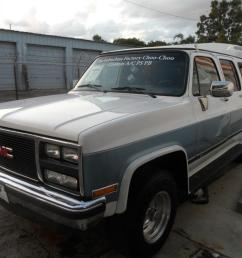1989 gmc v1500 suburban 4x4 factory choo choo 4 door 5 7l great condition [ 1066 x 800 Pixel ]