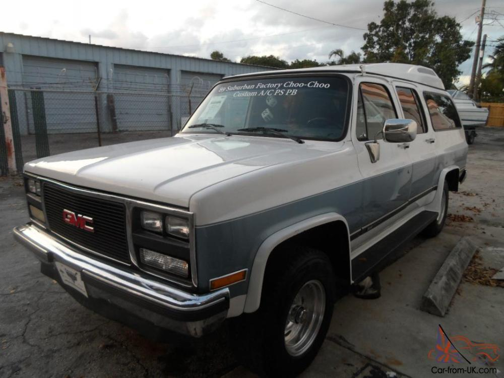 medium resolution of 1989 gmc v1500 suburban 4x4 factory choo choo 4 door 5 7l great condition