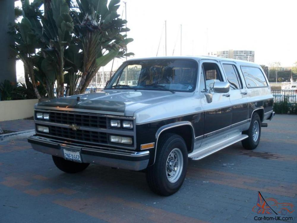 medium resolution of 1989 chevrolet suburban gmc chevy low miles 454 v8 california 77 000 original