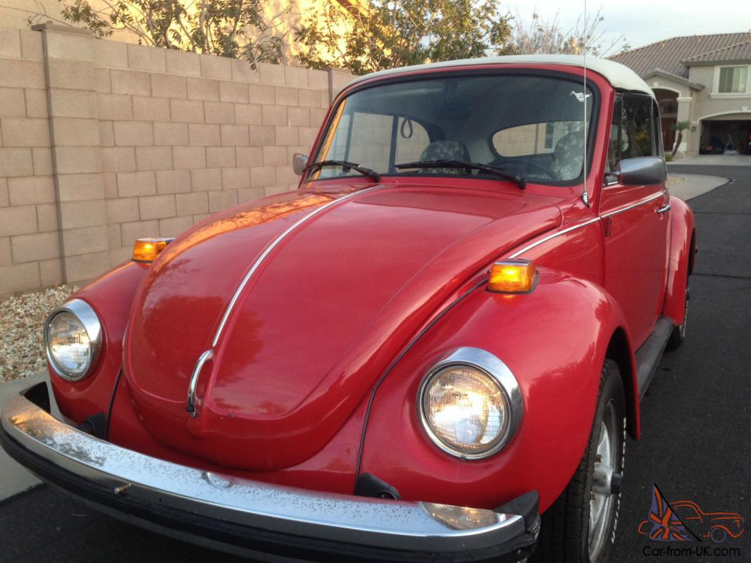 hight resolution of 1978 vw volkswagon super beetle red karmann edition photo