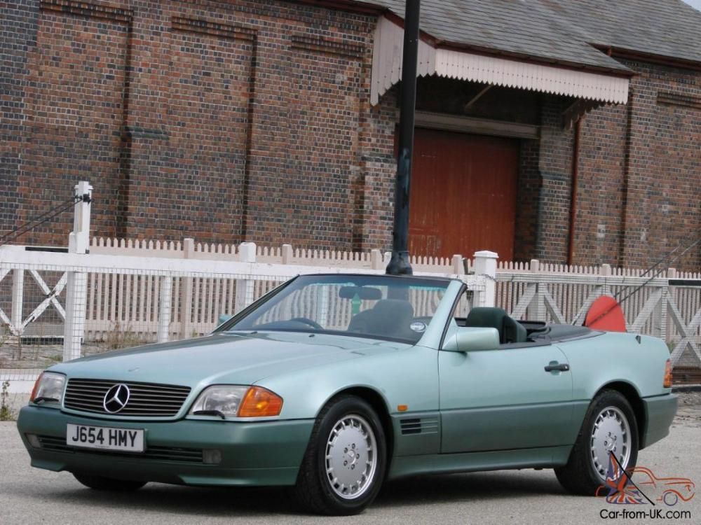 medium resolution of 1991 mercedes benz 500sl 32 r129 roadster rare colour exceptional condition