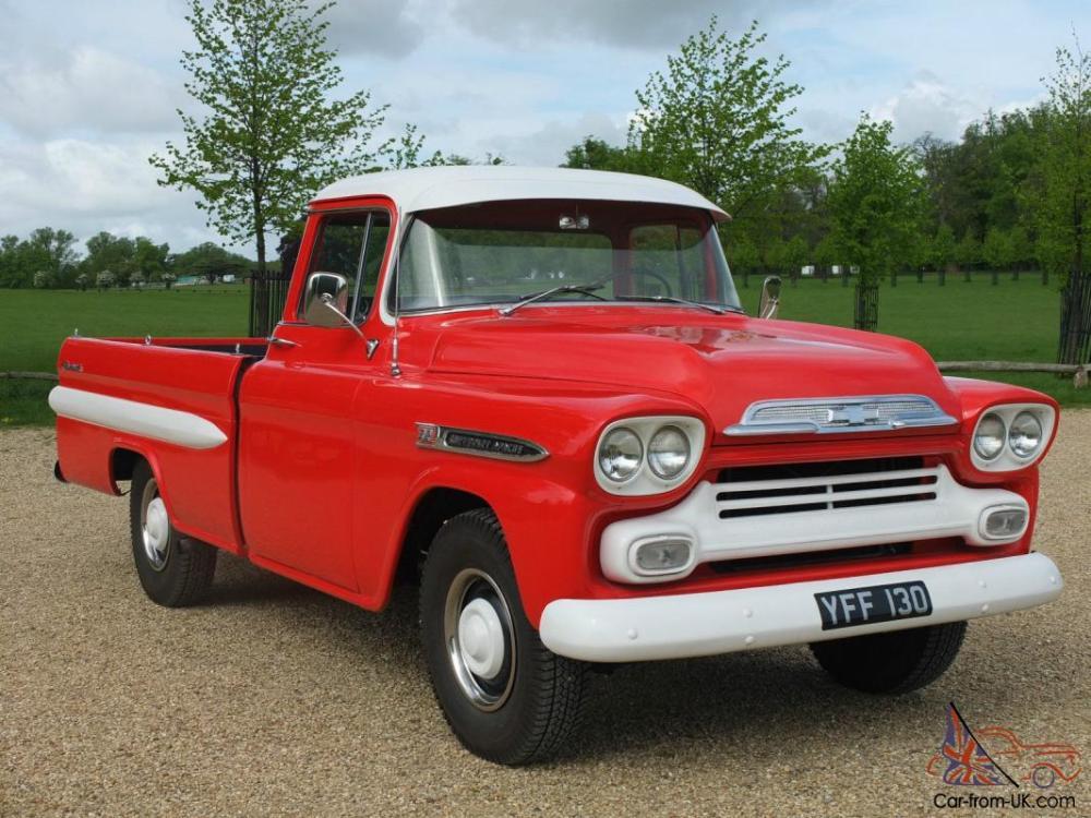 medium resolution of 1958 chevrolet apache v8 pickup truck