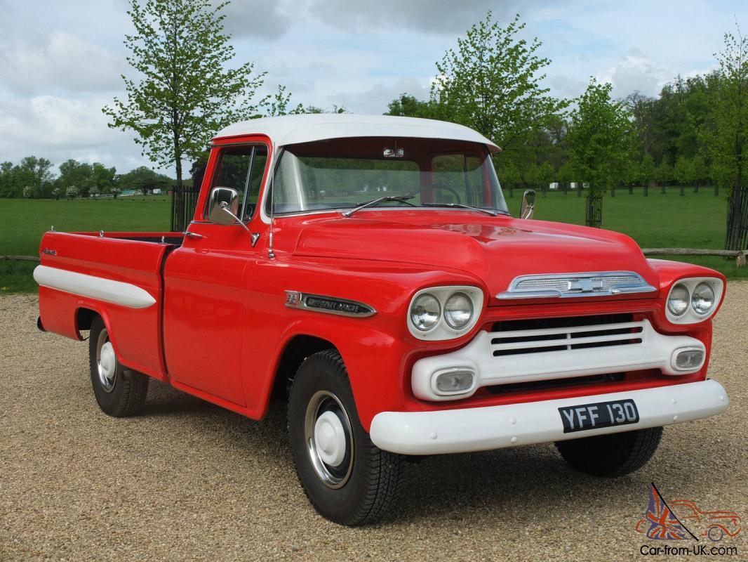 hight resolution of 1958 chevrolet apache v8 pickup truck