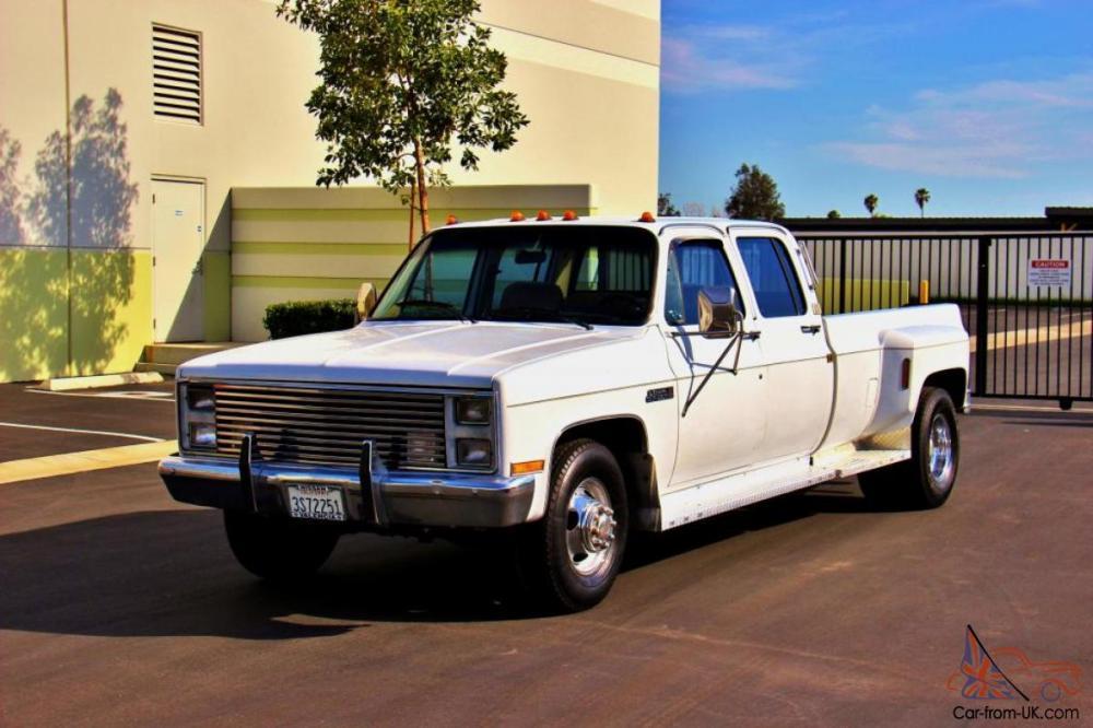 medium resolution of 1987 gmc sierra 3500 crew cab dually 1 owner clean certified photo