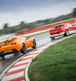 lotus elise chases exige on track  [ 1700 x 1131 Pixel ]