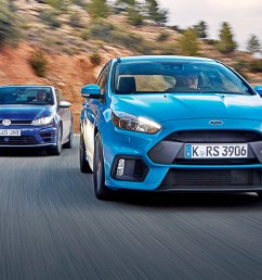 vw golf r vs ford focus rs 2016 s hot hatch crunch match [ 1700 x 1132 Pixel ]