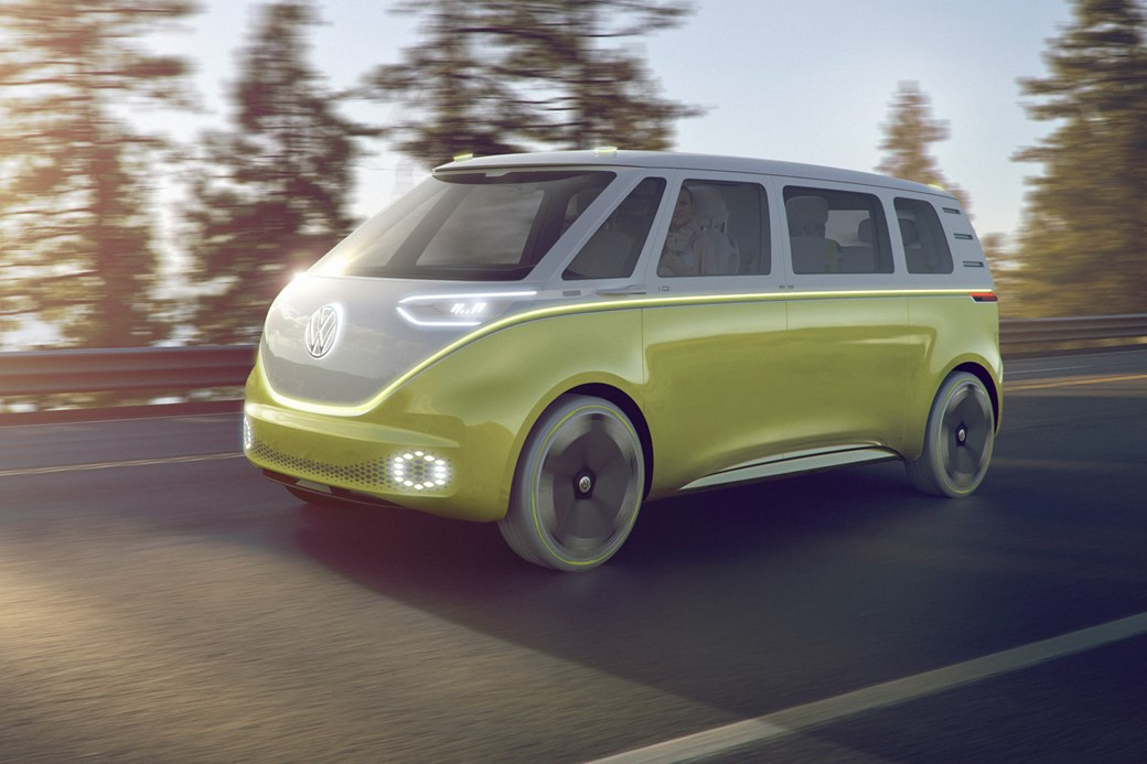 Volkswagen Id Buzz Concept Vws Electric Push Continues At