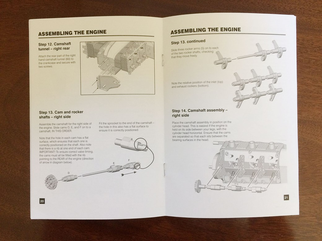 medium resolution of instruction manual for porsche flat six scale model