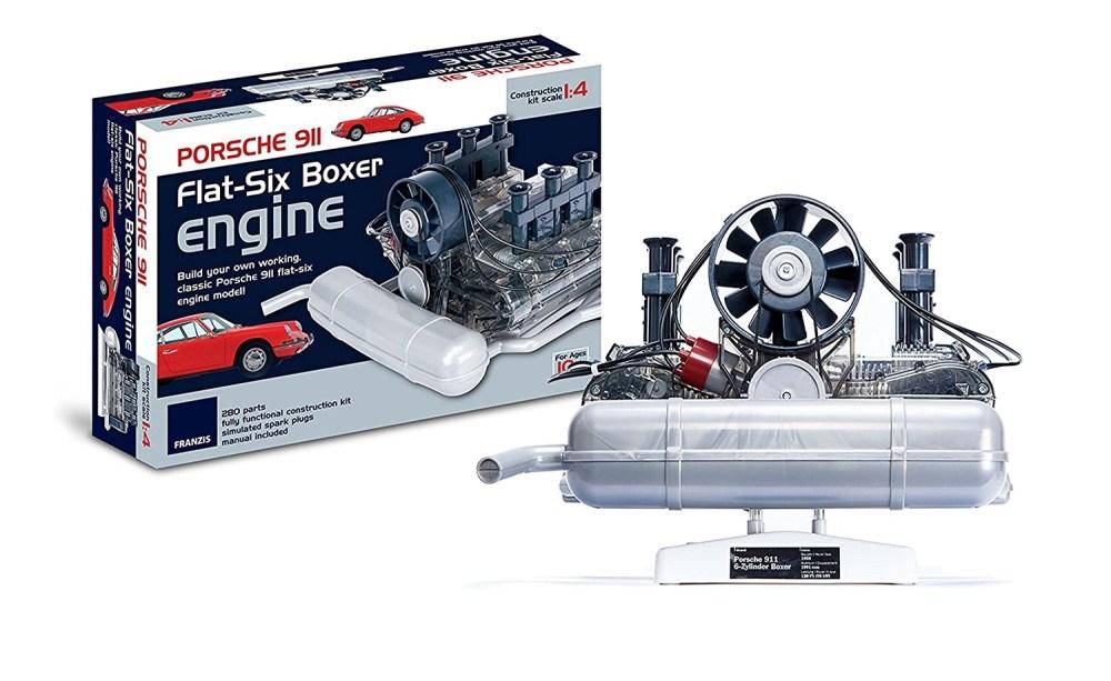 medium resolution of the flat six porsche model engine on test