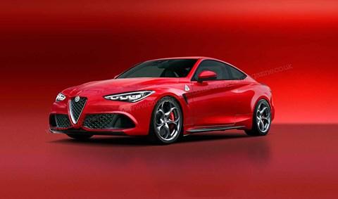 The new 2021 Alfa Romeo GTV artist's impression by Andrei Avarvarii