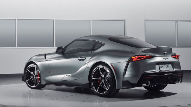 Toyota Supra grey front end