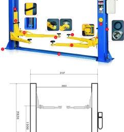 2 post 4ton car lifts 220v manual release 021 5562413 [ 700 x 1379 Pixel ]
