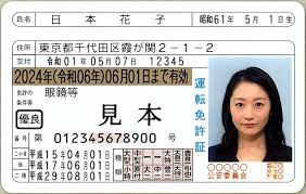 運転免許証のサンプル